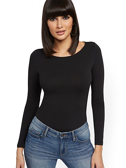 Ruched Bateau-Neck Top - New York & Company