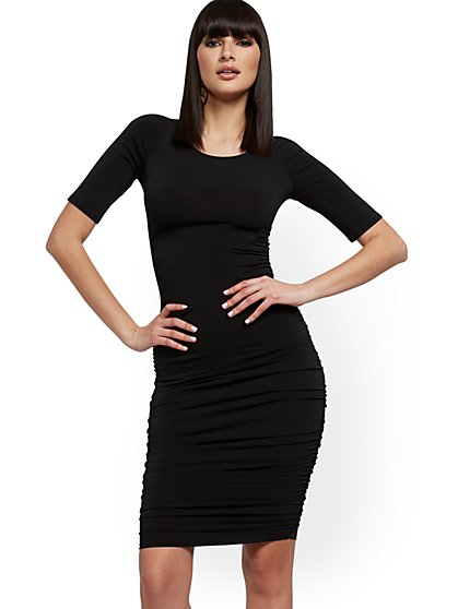 Ruched Bodycon Dress - New York & Company