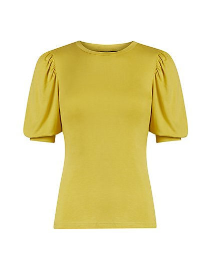 Ruched Puff-Sleeve Top - New York & Company