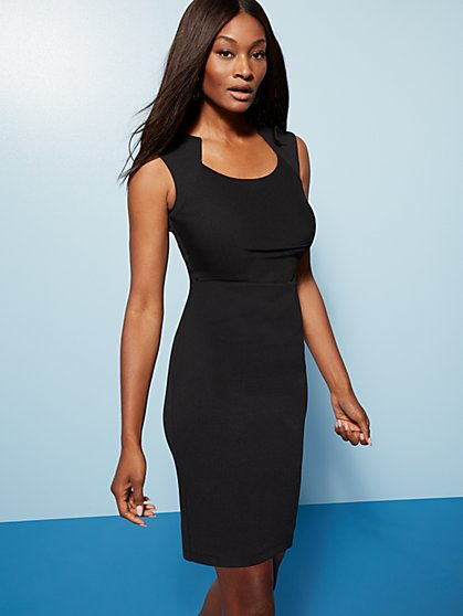 Ruched Sheath Dress - Magic Crepe® - New York & Company