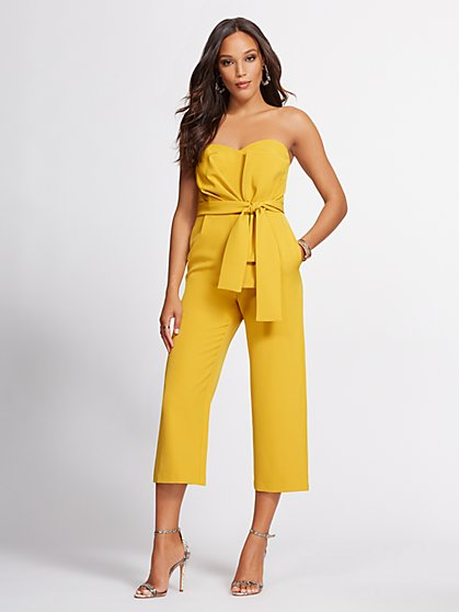 Ruched Strapless Jumpsuit - Gabrielle Union Collection - New York & Company
