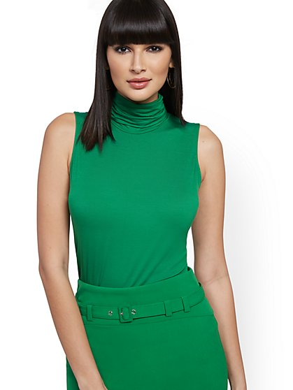 Ruched Turtleneck Top - 7th Avenue - New York & Company