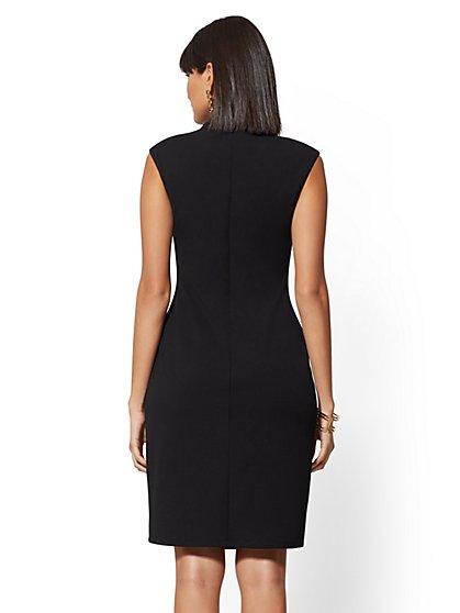 dc035c65c43 ... Ruched V-Neck Bodycon Sheath Dress - Magic Crepe - New York   Company