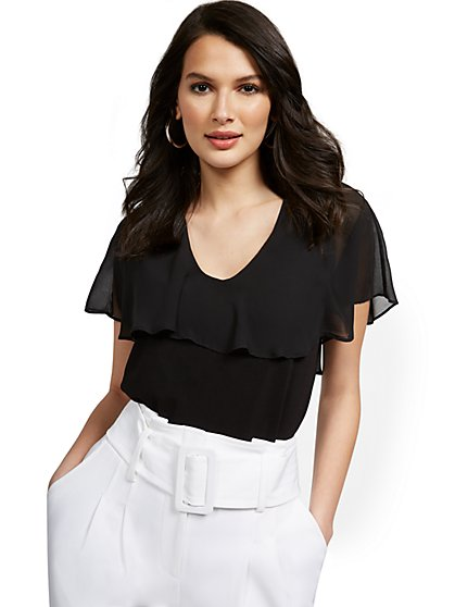 Ruffle Cape Top - New York & Company