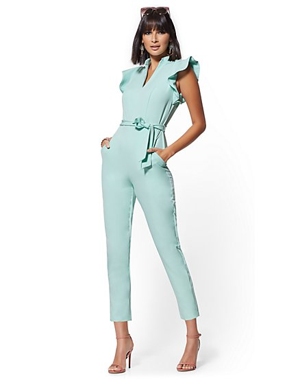 Ruffle-Shoulder Madie Jumpsuit - 7th Avenue - New York & Company