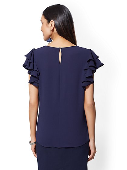 9445a2da4a568 ... Ruffle-Sleeve Blouse - New York   Company ...