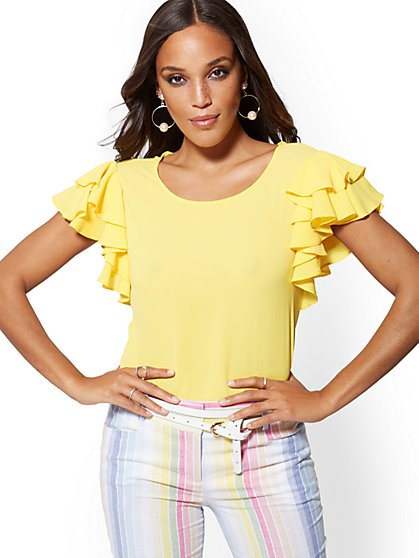 Ruffle-Sleeve Blouse - New York & Company