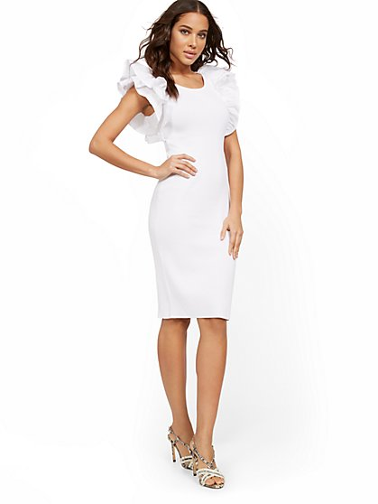 Ruffle-Sleeve Sweater Dress - New York & Company