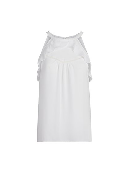 Ruffled Halter Top - New York & Company