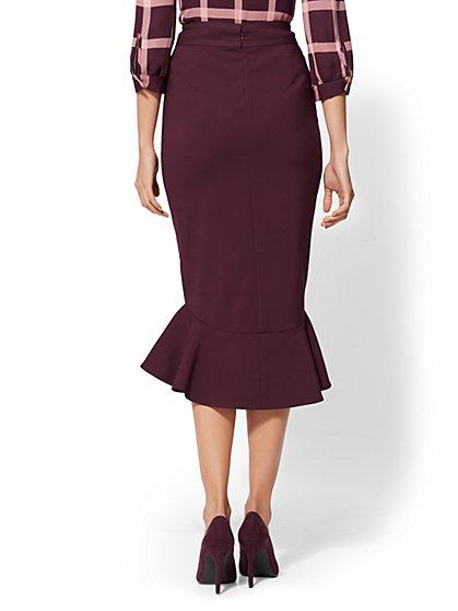 0f54b338d9 ... Ruffled Hi-Lo Skirt - 7th Avenue - New York & Company ...