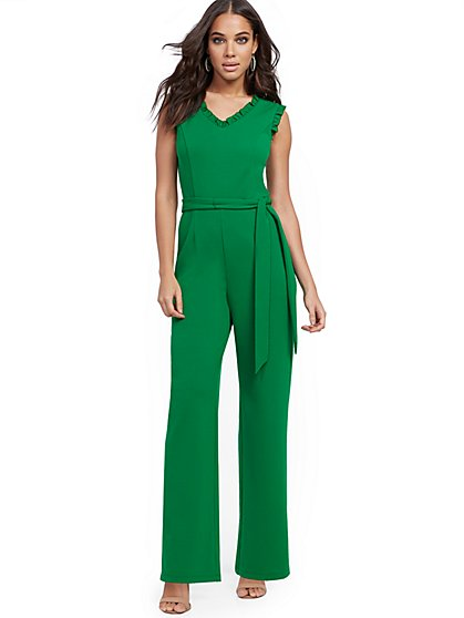 Ruffled Jumpsuit - Magic Crepe® - New York & Company