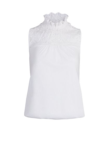 Ruffled Lace Top - New York & Company
