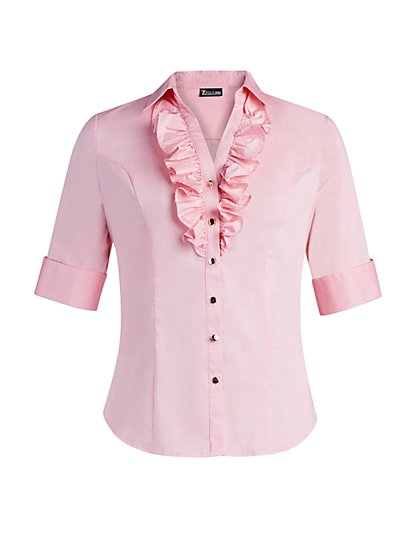 Ruffled Madison Stretch Shirt - 7th Avenue - New York & Company