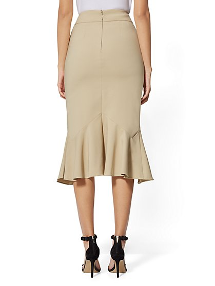 19bd51a2f ... Ruffled Pencil Skirt - All-Season Stretch - 7th Avenue - New York &  Company