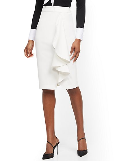 Ruffled Pencil Skirt - New York & Company