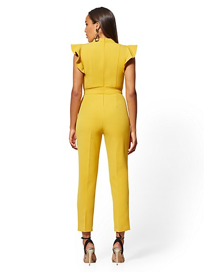 cc7a7822ae ... Ruffled-Shoulder Madie Jumpsuit - 7th Avenue - New York & Company