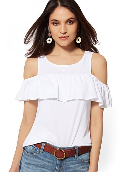 Ruffled Tank Top - New York & Company