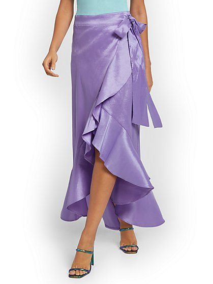 Ruffled Wrap Maxi Skirt - New York & Company