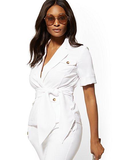 2da7c9b08 White Women's Blazers | Shop Jackets for Women | New York & Company