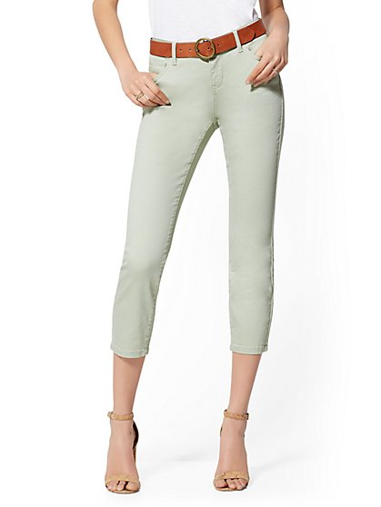 Sage Green 25 Inch Crop Legging - NY&C Runway - Soho Jeans - New York & Company