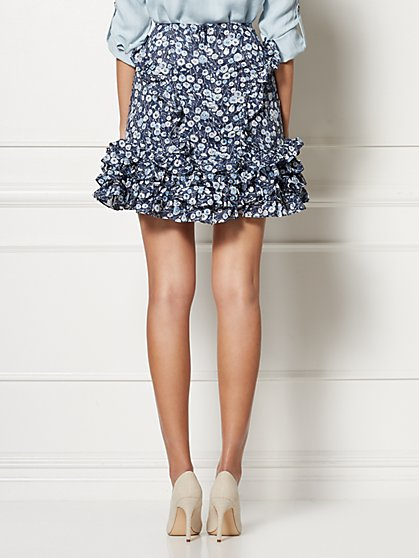 938be3fffc7 ... Sarah Navy Floral Skirt - Eva Mendes Collection - New York & Company ...
