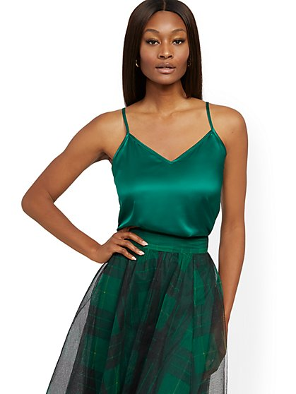 Satin Camisole Top - 7th Avenue - New York & Company