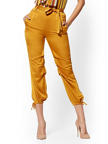 Satin Slim-Leg Jogger Pant - New York & Company
