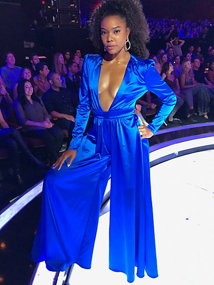 Satin Wide-Leg Jumpsuit - Gabrielle Union Limited Edition Red Carpet Collection - New York & Company
