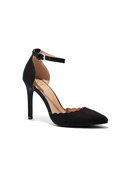 Scalloped Ankle-Strap Pump - New York & Company