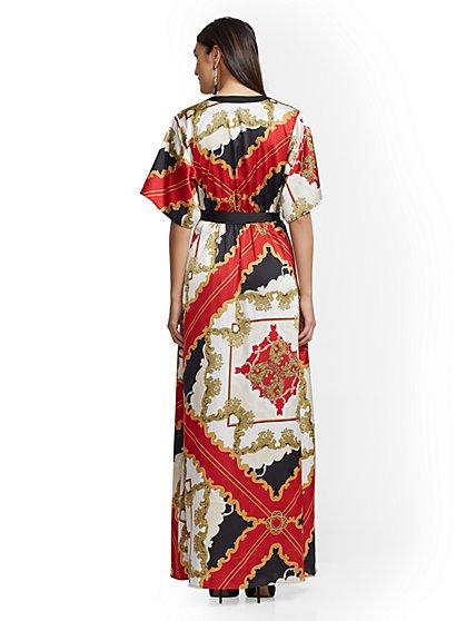 ... Scarf-Print Kimono Maxi Dress - New York & Company ...