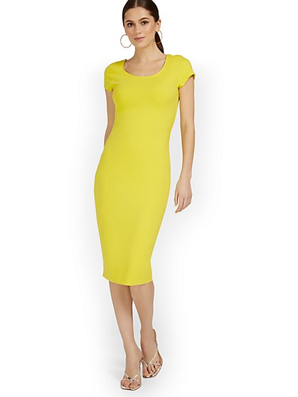 Scoopneck Cap-Sleeve Midi Dress - Everyday Collection - New York & Company