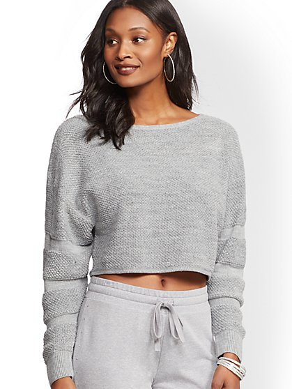 Scoopneck Crop Sweater - New York & Company