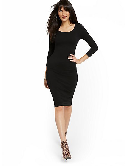Scoopneck Midi Dress - Everyday Collection - New York & Company