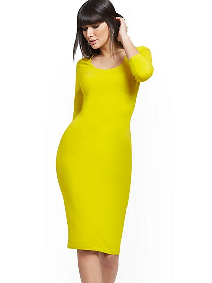 Scoopneck Midi Dress - Soho Street - New York & Company