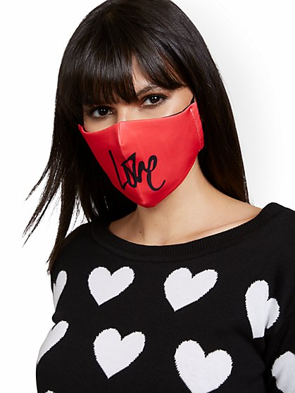 Scripted Love Face Mask - New York & Company