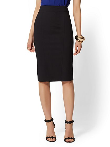 Seamed Pencil Skirt - All-Season Stretch - 7th Avenue - New York & Company
