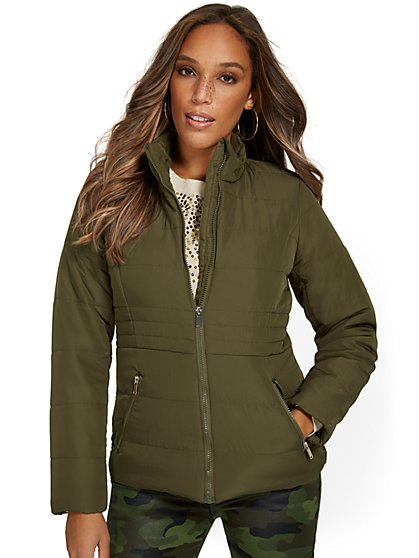 Seamed Puffer Jacket - New York & Company