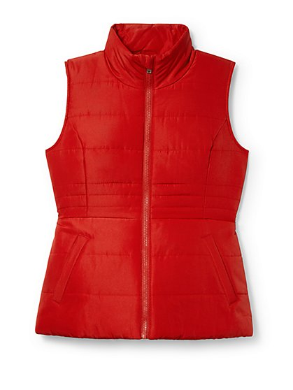 Seamed Puffer Vest - New York & Company