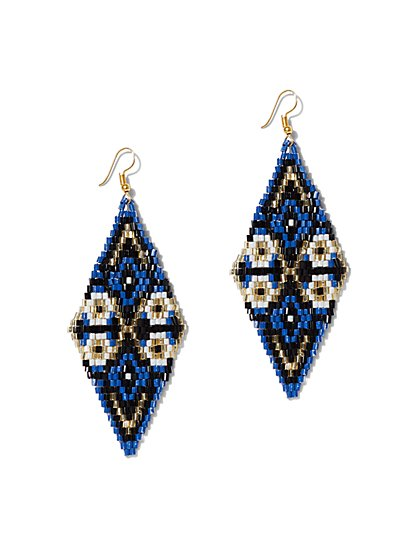 Seed Bead Kite Drop Earring - New York & Company