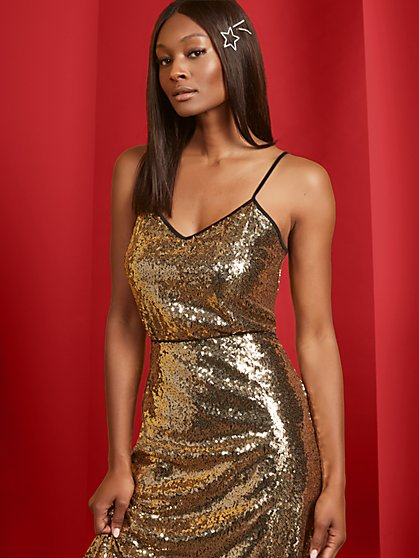 Sequin Camisole Top - New York & Company
