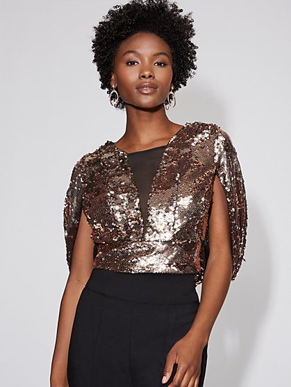Sequin Cape Top - Gabrielle Union Collection - New York & Company