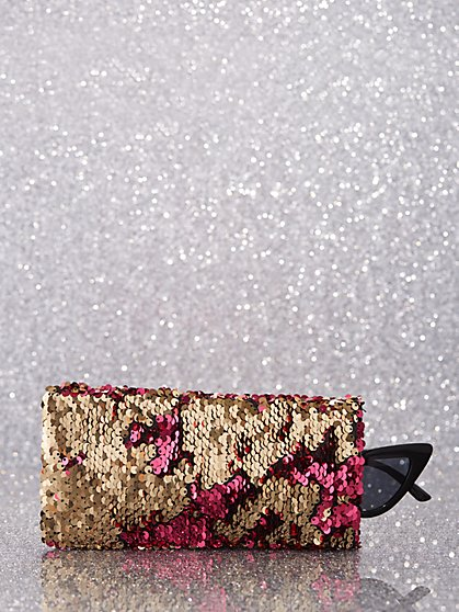 Sequin Eyeglasses Case - New York & Company