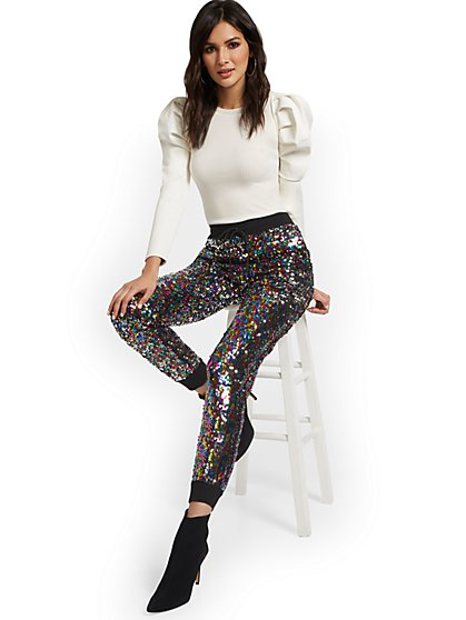Sequin Jogger Pant - 7th Avenue - New York & Company
