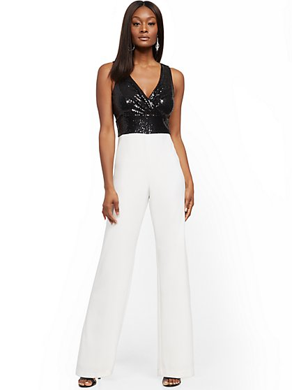 Sequin Jumpsuit - New York & Company