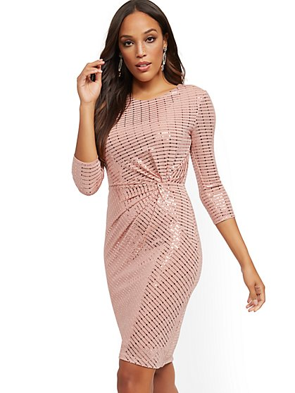 Sequin Sheath Dress - New York & Company