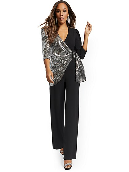 Sequined Jumpsuit - New York & Company