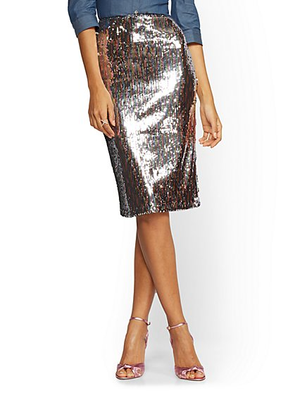 e80f5574 NY&C: Sequined Skirt
