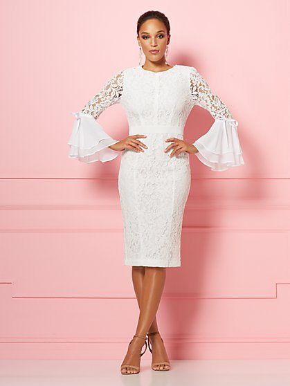 db065970384ca Seraphina Lace Sheath Dress - Eva Mendes Party Collection - New York &  Company ...