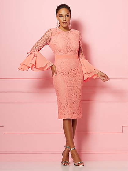 Seraphina Lace Sheath Dress - Eva Mendes Party Collection - New York & Company
