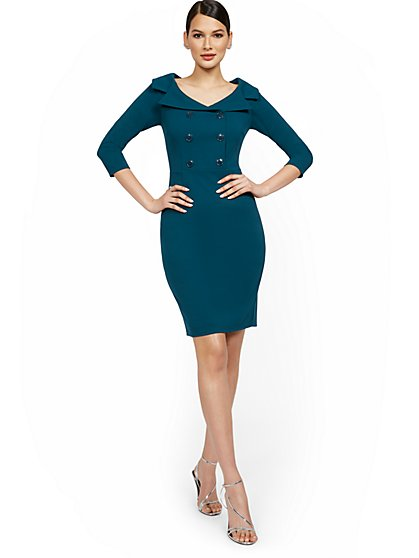 Shawl-Collar Sheath Dress - Magic Crepe® - New York & Company